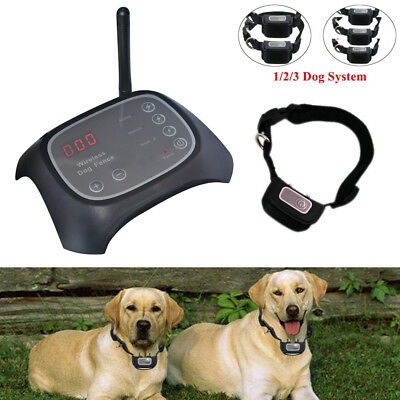 Wireless Electric Pet Dog Collar Fence Containment Transmitter Train Waterproof