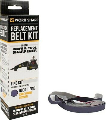 Work Sharp Six 6000 Fine Grit Replacement Belts For WSKTS Knife & Tool Sharpener