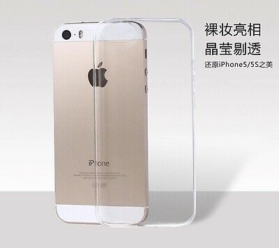 Clear Transparent Crystal Soft TPU Silicone Gel Cover Case Skin F iPhone 5/5s LN