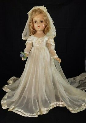 "Vintage Madame Alexander 21""In tagged  Wedding Gown Wendy? Composition"
