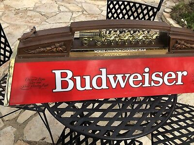 Budweiser World Championship Clydesdale Team Pool Table Light Collectors Item