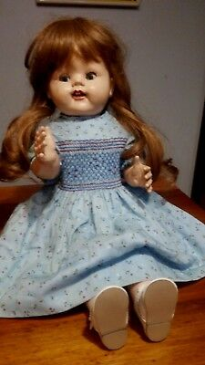Pedigree walker doll 1950`s England, lovely 22`` vintage doll, good condition.