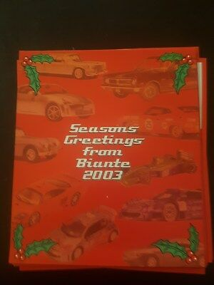 Biante Model Cars 2003 Desk Top Calender