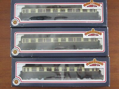 Bachmann Collett  3 x 60 Foot Choc/Cream Hawksworth Carriages. OO Scale. Boxes.