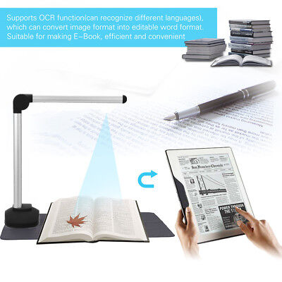Portable High Speed USB Book Image A4 Document 8.0MP Camera Scanner Visualizer