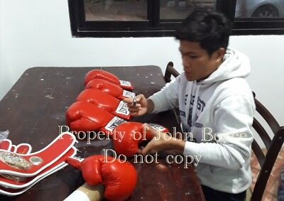 "Jerwin Ancajas "" Pretty Boy"" Hand signed Everlast gloves"