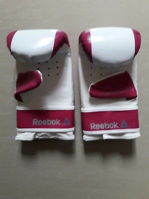 Two Purple / White Reebok original Boxing gloves hand signed by Manny Pacquiao