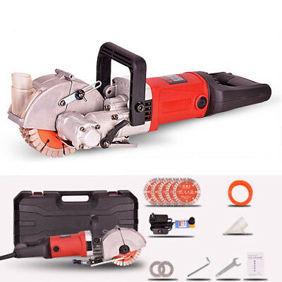 220V 4000W 360°Wall Chaser Groove Steel Concrete Cutting Slotting Machine New