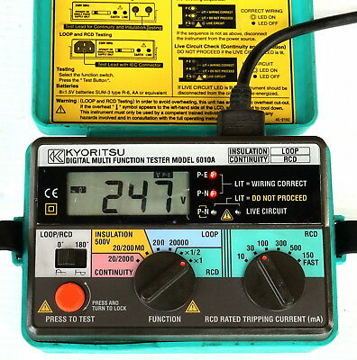 Kyoritsu 6010A 4in1 Multifunction Continuity Loop Impedance RCD Tester