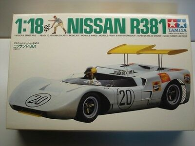Tamiya Vintage 1:18 Scale Nissan R381 V8 Sports Racing Car Model Kit - New 10002