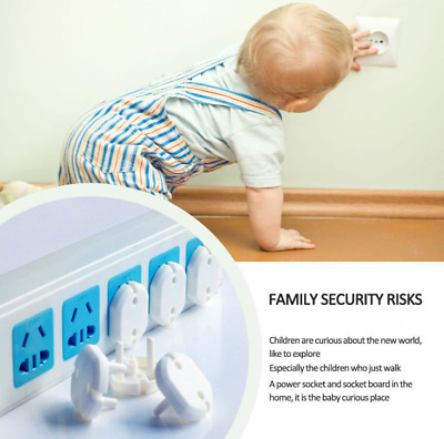 10pcs EU Safety Outlet Plug Protective Cover Baby Child Electric Protector