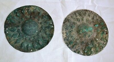 Pair of Museum quality Bronze Age Bronze Military Commander's Medallions, Urartu