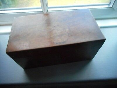 Antique Wooden Box Mahoganay? was tea caddy selling other boxes