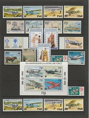 FIJI Collection Planes Costumes Rotary Cattle etc MINT/USED as per scan #