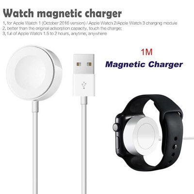 For Apple Watch Series iWatch 38/42mm Magnetic Charger Charging Pad Cable 1m
