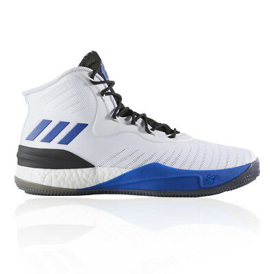 size 40 6b17f 0be2f adidas Mens D Rose 8 Basketball Shoe Black Blue White Sports Breathable