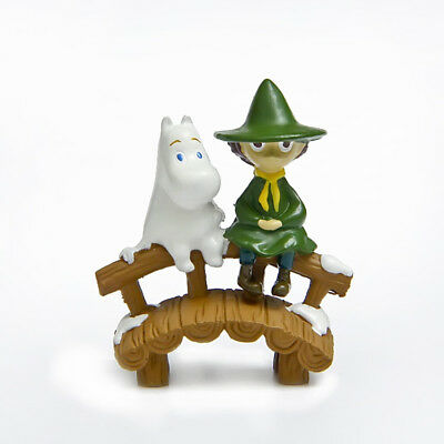 MOOMIN figure doll statue Moomintroll and Snufkin Toy Doll Bedroom Decoration