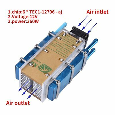 6-chip 360W semiconductor refrigeration air cooling radiator water-cool cooler R