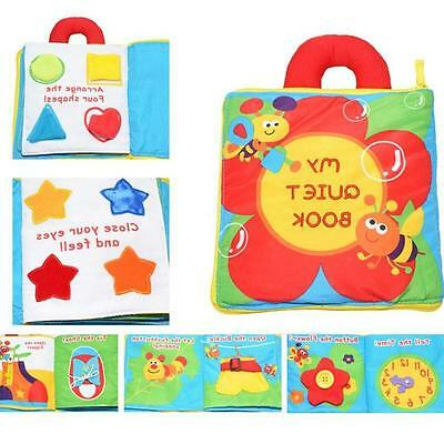 Patented My Quiet Book Multi Dimensional Baby Soft Toy Color Shape Game Story #