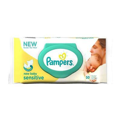 Pampers New Baby Sensitive Wipes (50) - Pack of 2