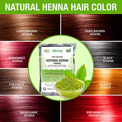 Natural Henna Hair Color - 100% Organic and Chemical Free Henna for hair color