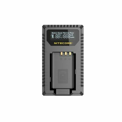 Nitecore USN2 Dual Slot USB Battery Charger with LCD Display for Sony NP-BX1