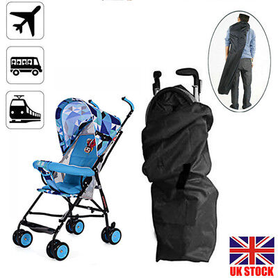 UK Gate Check Pram Travel Bag Umbrella Buggy/Stroller/Pushchair Waterproof Cover