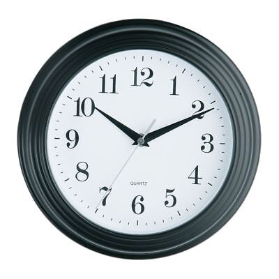 Vintage Large Black Round Kitchen and Home Quartz Office Room Wall Clock