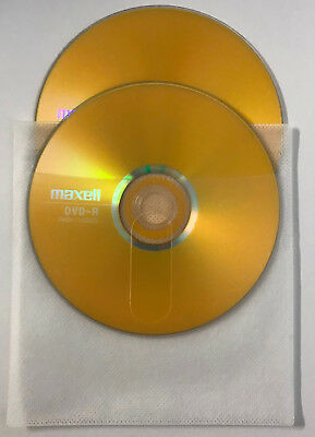 2 x Maxell DVD-R Blank Recordable DVD Discs In Polypropylene Sleeves - BRAND NEW