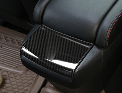 Carbon Fiber Style Indoor Rear Armrest Box Cover Trim For Honda CIVIC 2016-2018