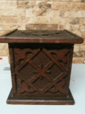 antique wooden arts and craft box