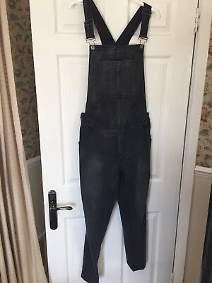 BLOOMING MARVELLOUS Mothercare Black Denim Maternity Dungarees - size 14