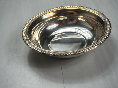 F.B Rogers Silver Plate Small Bowl with Roped Edges