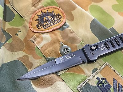 Military Army Fighting Tactical Stealth Combat Folding Blade Knife, soldier, sex