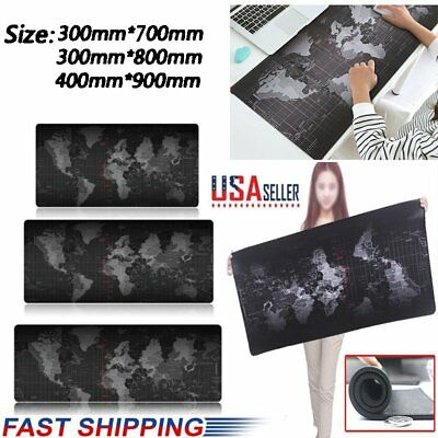 Office World Map Large Cloth Extended Rubber Speed Gaming Mouse Pad Desk Pad Mat