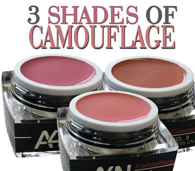 3 SHADES OF CAMOUFLAGE Modellagegel-Set Nagelgel Geschenke-Box Nagelset Gelset