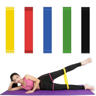 5/6PCS Resistance Bands Loop Exercise Workout CrossFit Fitness Stretching Yoga