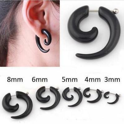 2pcs Punk Acrylic Fake Cheater Ear Expander Taper Plug Stretcher Body Piercing J