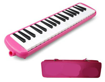 E02 37 Piano Keys Pink Musical Instrument Melodica Pianica With Carrying Bag O