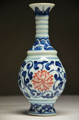 Exquisite Chinese Blue And White Porcelain Handwork Painting Flower Vase