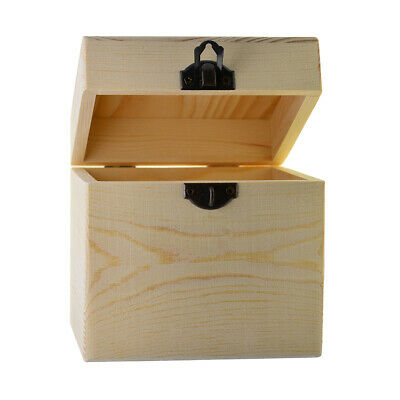 Unfinished Wooden Jewel Box Case for Kid's DIY Craft Wood Arts Square 120mm