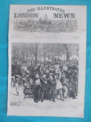 1870 The Illustrated London News Title Page Holzschnitt antique print