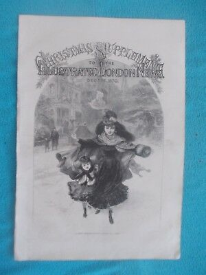 1870 The Illustrated London News Title Page Holzschnitt antique print #2