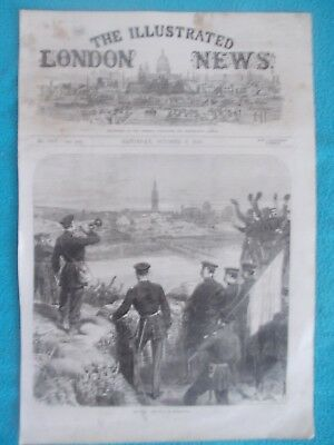 1870 The Illustrated London News Title Page Holzschnitt Antique Print #3