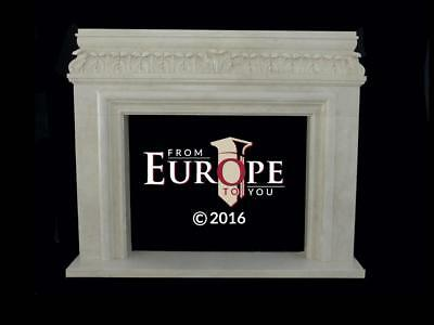 Beautiful Hand Carved Marble French Style Fireplace Mantel - Fd46