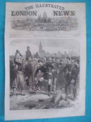 1870 The Illustrated London News Title Page Holzschnitt Antique Print #4