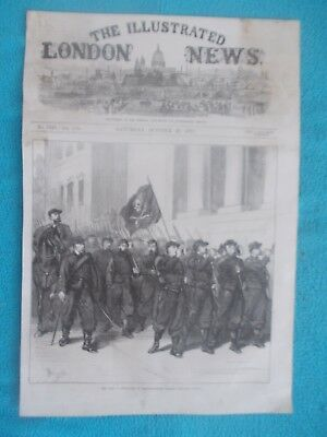 1870 The Illustrated London News Title Page Holzschnitt Antique Print #5