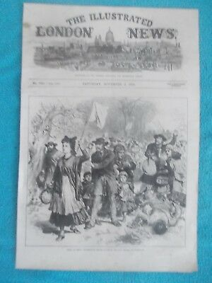 1870 The Illustrated London News Title Page Holzschnitt Antique Print #6