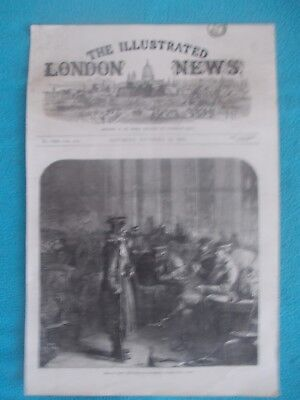 1870 The Illustrated London News Title Page Holzschnitt Antique Print #7