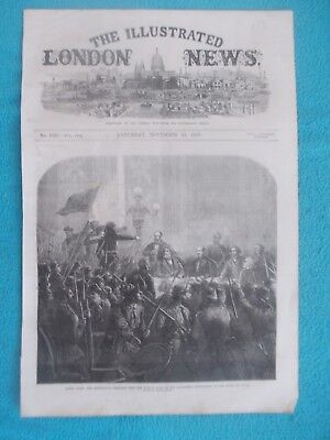 1870 The Illustrated London News Title Page Holzschnitt Antique Print #8